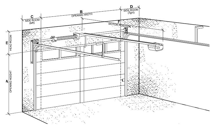 Sectional Garage Door Clearances Danmar Garage Doors